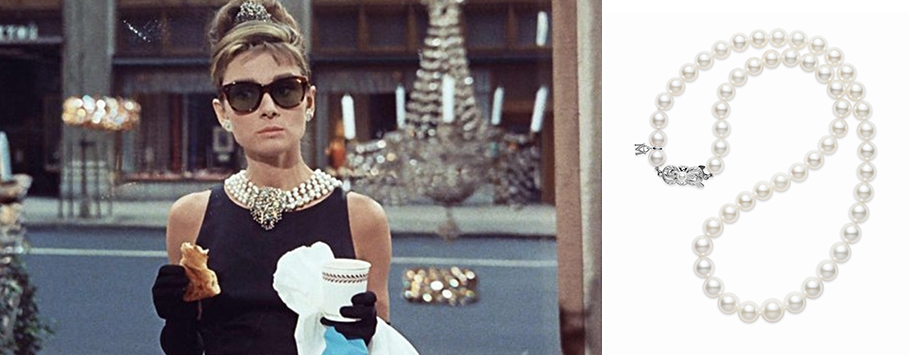Best Jewellery from the Movies Breakfast at Tiffany's Pearl Necklace