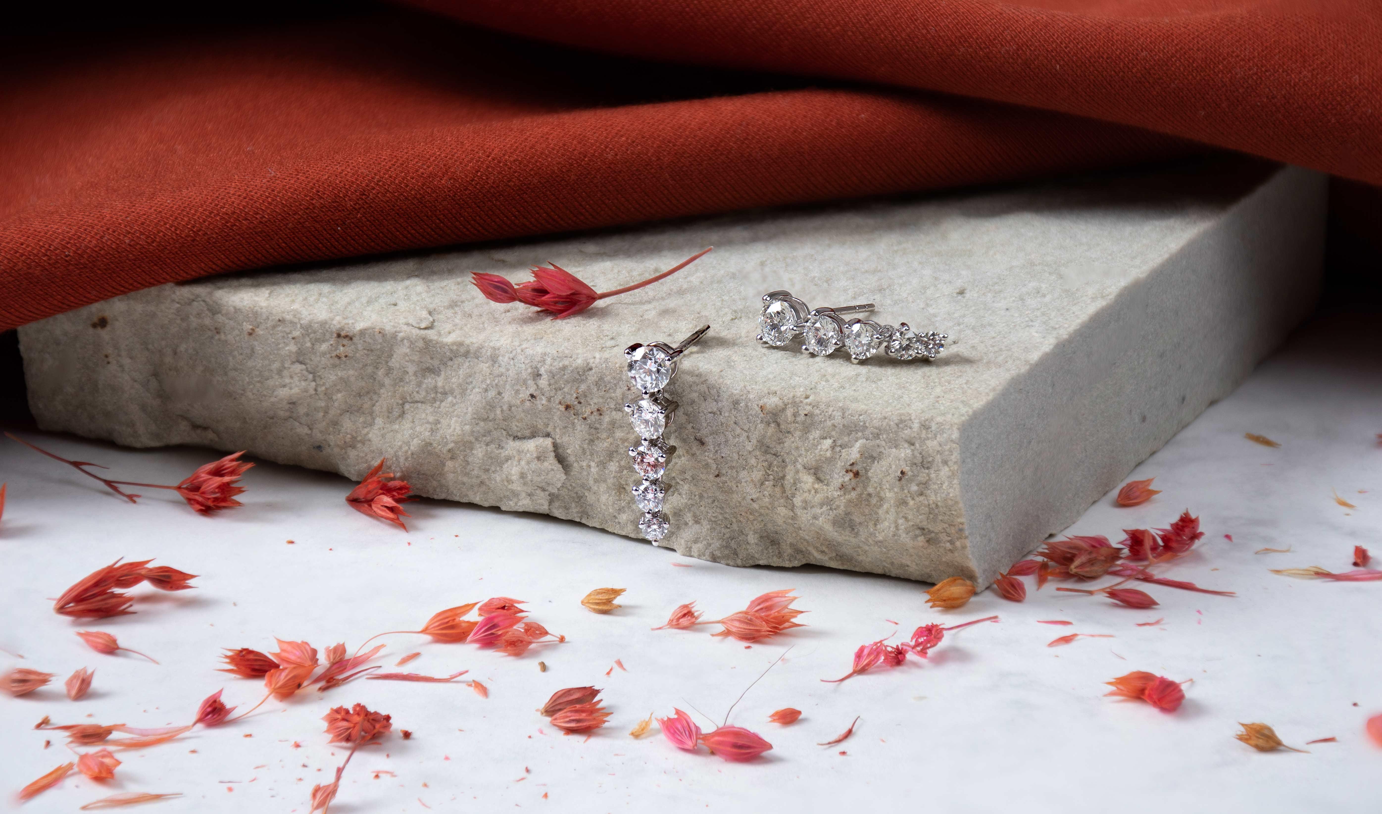 Diamond Drop Earrings for Autumn Style