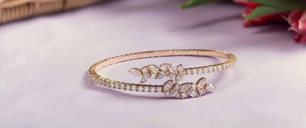 Rose Gold diamond bangle