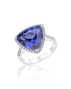 trillian cut tanzanite ring