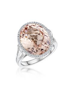 9.29ct morganite ring