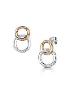 Spirit - Halo Bi-Colour Diamond Earrings