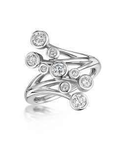 18ct White Gold 0.75ct H SI1 Diamond Lifestyle Ring