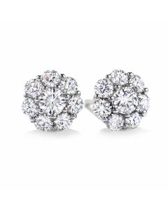 Hearts On Fire 18ct White Gold Beloved Diamond Earrings