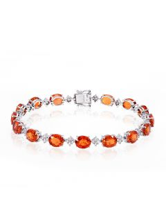 White Gold Diamond And Orange