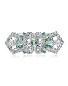Pre-Owned Emerald Brooch