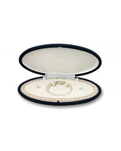 Mikimoto 18ct Yellow Gold Graduated Cultured Pearl Set