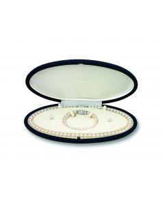 Mikimoto 18ct White Gold Cultured Pearl Bracelet and Earring Set