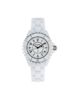 Chanel White Ceramic And Steel