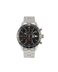 Pre-Owned Tag Heuer Carrera Gents Watch Stainless Steel Black Chronograph dial