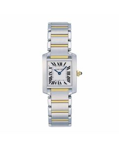 Small Cartier Steel And Yellow Gold Tank Francaise