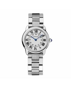 Small Cartier Stainless Steel Ronde
