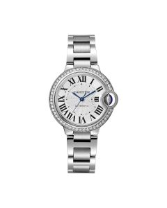 Ladies Cartier stainless steel Ballon Bleu