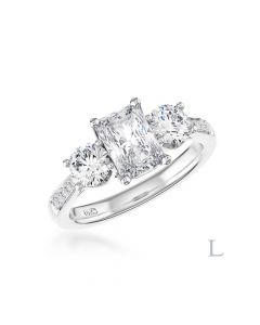 Memoire Radiant 3 Stone 0.50ct