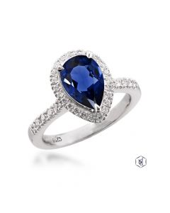 Plat Skye Pear Ring. Front