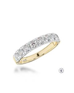 Yellow Gold & Platinum 0.78ct Brilliant Cut Diamond Ring