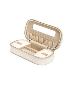 Chloe cream zip jewellery case