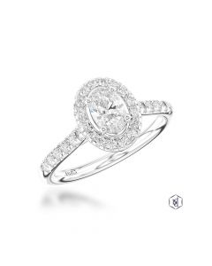 Oval Cut diamond shoulders dia