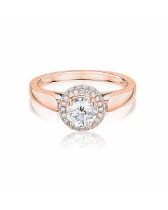 Anna Collection Rose Gold 0.50ct Cluster Ring