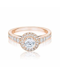 Anna Collection Rose Gold 0.88ct Cluster Ring
