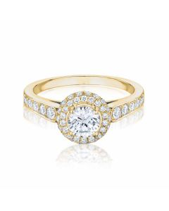 Anna Collection Yellow Gold 0.50ct  E/SI1 Cluster Ring