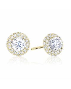 Anna 18ct Yellow Gold 0.50ct Diamond Earrings