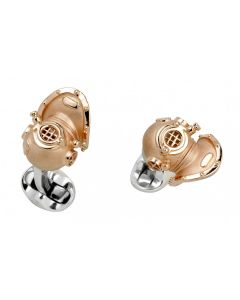 diving helmet cufflinks