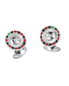 roulette table casino cufflink