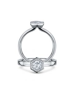 chapiteau diamond ring 0.46ct