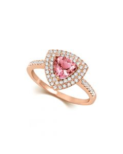 tivon rose gold morganite ring