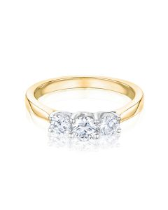 Esme three stone diamond ring