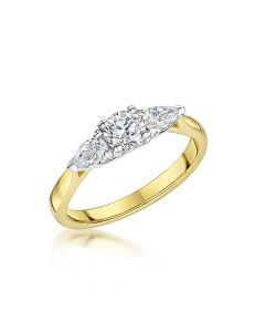 Yellow Gold 3 Stone Diamond R