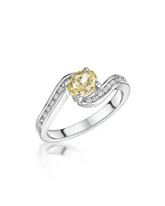 Platinum Yellow Gold Diamond R