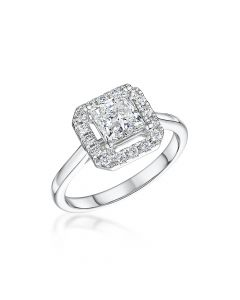 Platinum Princess Cut Diamond