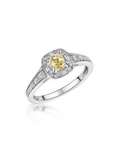 Platinum 0.47ct Yellow Diamond