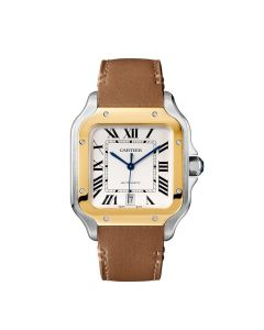 Cartier Santos Watch Leather S