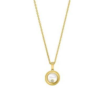 18ct Yellow Gold Chopard Happy Diamonds Icons Pendant