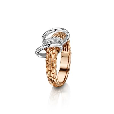 18ct Rose and White Gold Flex It Diamond Ring