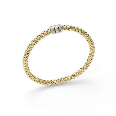 Fope Solo 18ct Yellow Gold 0.30ct Diamond Bracelet