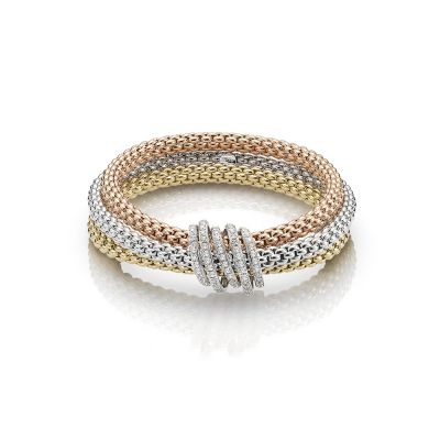 Fope Solo MiaLuce Three Colour Bracelet with 1.20ct Diamonds