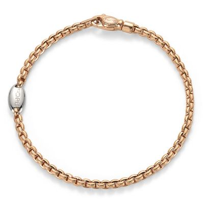 18ct Rose Gold EKA Link Bracelet