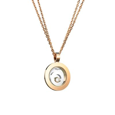18ct Rose & White Gold Chopard Happy Spirit Pendant 795405-9001