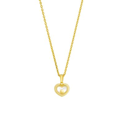 18ct Yellow Gold Chopard Happy Diamonds Pendant 79A054-0001