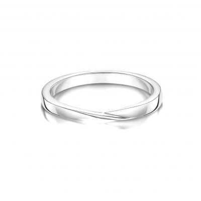 Esme 18ct White Gold Wedding Band