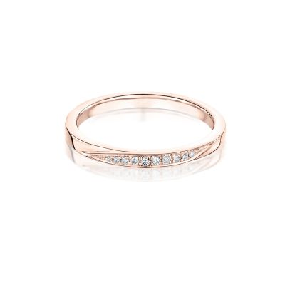 Isabella Diamond Set 18ct Rose Gold Wedding Band