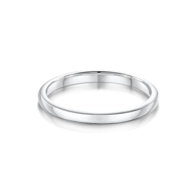 Suzanne White Gold Wedding Band