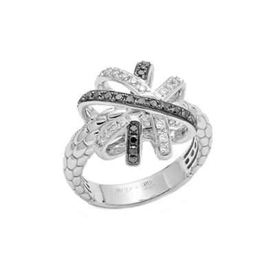 18ct White Gold 0.47ct Diamond Venezia Solo Ring