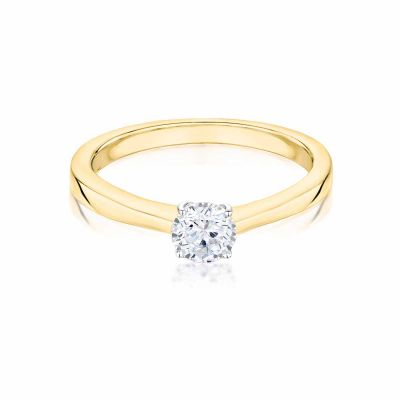 Esme 18ct Yellow Gold 0.26ct Brilliant Cut Diamond Ring