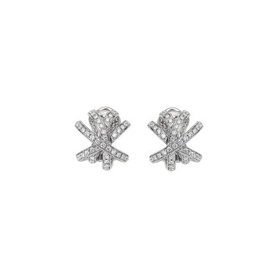 Fope 18ct White Gold Solo Venezia 1.02ct Diamond Earrings
