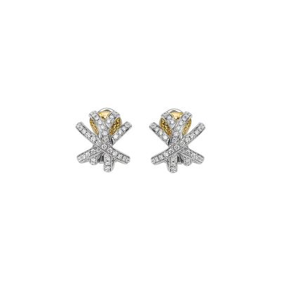 Fope Solo Venezia 18ct White Gold earrings with 1.02ct diamonds OR662PAVEWY